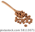 Cereal ball with wooden spoon isolated clipping 58113071