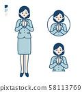 simple suit business woman_prayer 58113769