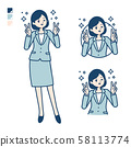 simple suit business woman_Peace sign 58113774