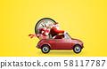 Santa Claus countdown on car 58117787