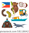 Landmarks and traditional symbols of philippines 58118642