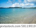 바다 남국 리조트 해변 여름 방학 아마미 오시마 복고풍 해수욕 58119019