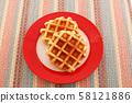 먹음직스러운 와플 58121886