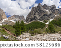 Beautiful summer view of Marmolada massif from Val 58125686