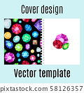 Cover design with jewels gem pattern 58126357
