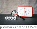 General Data Protection Regulation concept. 58131579