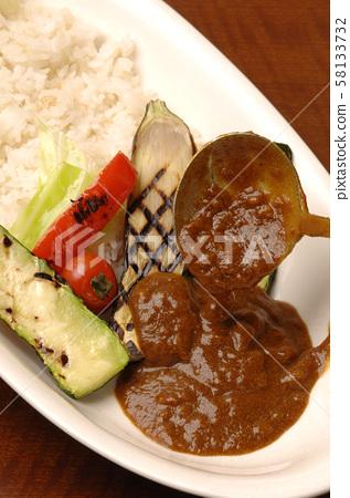 蔬菜咖哩飯 58133732