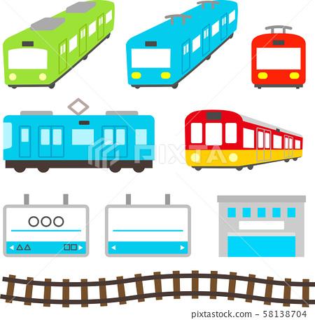 可爱的火车插图集 58138704