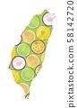 水果排列濾鍋,水果片,柿子,柑橘,梨,百香,柿子,樹柿子,柏果,橘,毛豆,曲 58142720
