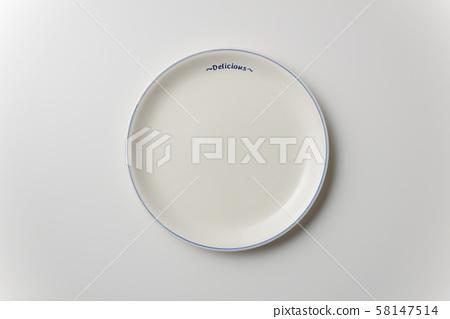 白皿 접시 배경 소재 58147514
