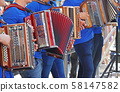 Group of young accordion players 58147582