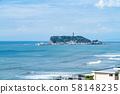 [Kanagawa] Enoshima from Shichirigahama 58148235