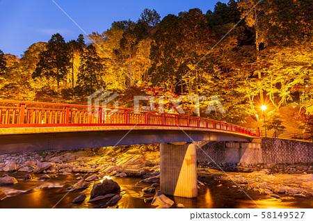 아이치 밤 단풍 향 嵐渓과 待月橋 58149527