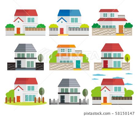 House house illustration house my house wood set 58150147
