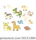 동물 십이지 일러스트 세트 58151984
