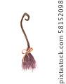 Witch broom. Halloween party design element. 58152098