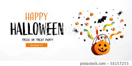 Halloween party banner 58157253