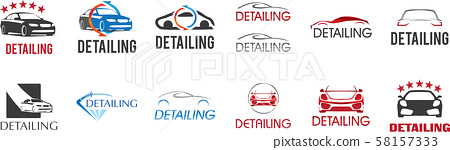 Vector logo for detailing car and tuning 58157333