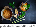 Spicy hot  Instant noodle 58157471