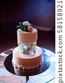 Wedding cake. Delicious sweet holiday buffet with desserts. 58158921