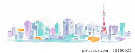 東京塔和建築物 58160023
