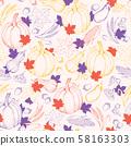 Autumn harvest vector seamless pattern 58163303