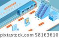 Metro Station Isometric Illustration 58163610