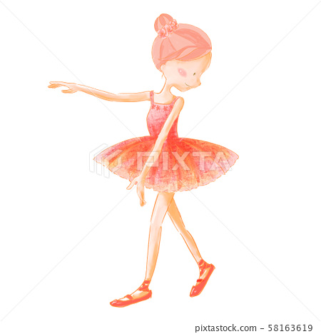 Ballet ballerina costume pink 58163619