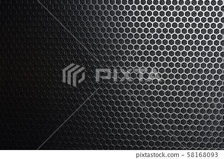 有洞的蜂巢形狀金屬網狀底紋 58168093