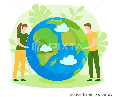 Happy Earth Day nature care ecology flat vector 58170183