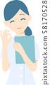 여성 간호사 포즈 3 58170528
