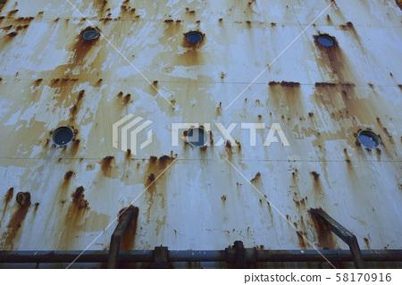 擱淺船殼與鐵鏽 58170916
