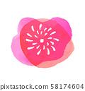 粉紅色的花水彩4 58174604