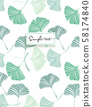 Background with Ginkgo biloba leaves 58174840