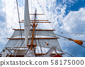 Toyama Prefecture Kaioh Maru Park Sailing ship sail sail Main sail and sail 58175000