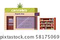 Cannabis store, marijuana products in organic shop 58175069