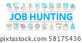 Job Hunting Minimal Infographic Banner Vector 58175436
