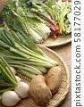야채 소재 바구니 58177029