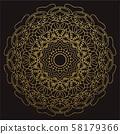 Decorative mandala. Illustration 58179366