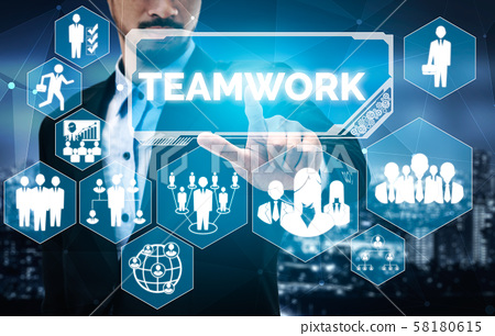Teamwork and Business Human Resources Concept 58180615