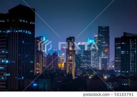 上海市,上海夜景,夜景, 上海、上海の夜景、夜景、Shanghai, Shanghai night  58183791