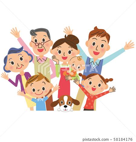 開朗的三代家庭 58184176