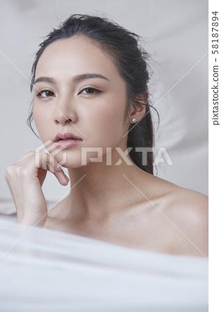 여성 미용 실크 58187894