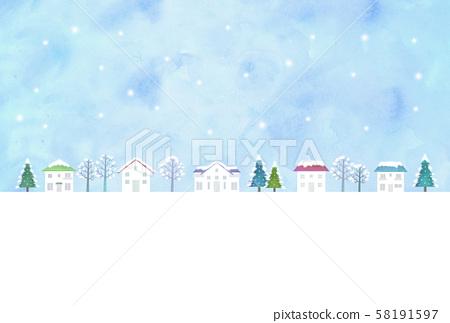 눈의 거리 풍경 58191597