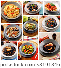 original italian pasta collage 58191846