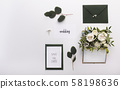 Wedding save the date postcard for memory on white 58198636