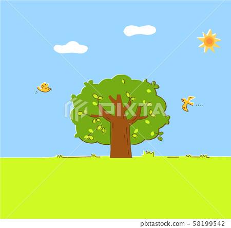 樹和藍天 58199542