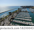 Aerial view of Dana Point Harbor and her marina 58200043
