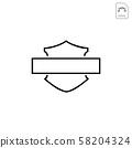 harley davidson emblem or icon abstract vector 58204324