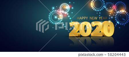 Happy New Year 2020 58204443